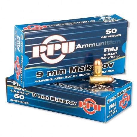 PPU 9 mm Makarov 93 gr. FMJ