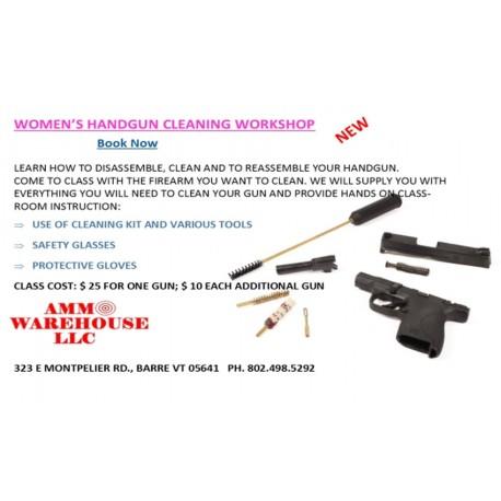 Women's Handgun Cleaning Workshop
