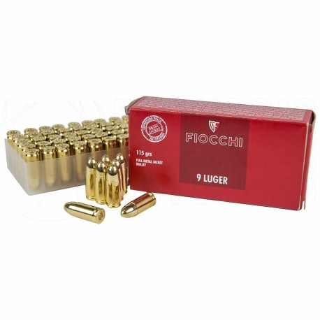 Fiocchi 9 mm Luger Brass